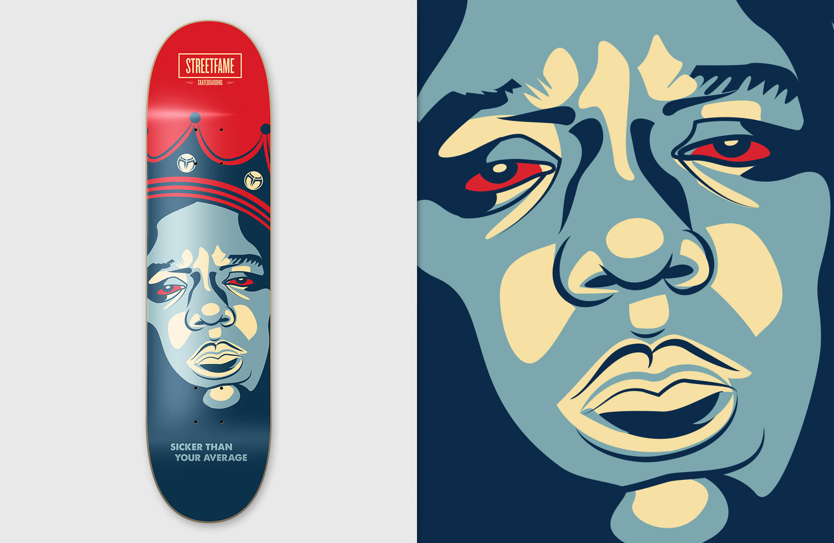 Streetfame Skateboards - Biggie red